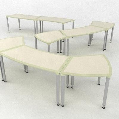 3d desk table model