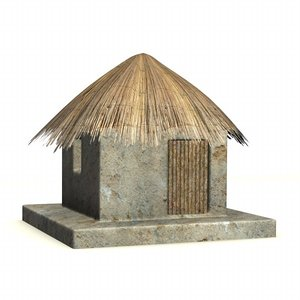 3ds max african building
