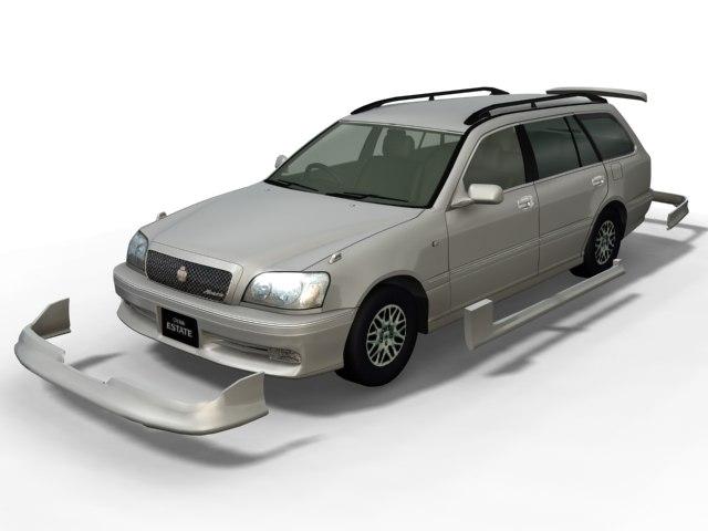 toyota estate 3d model