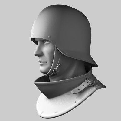 c4d helmet armor
