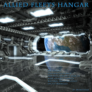 hangar allied fleets 3d model