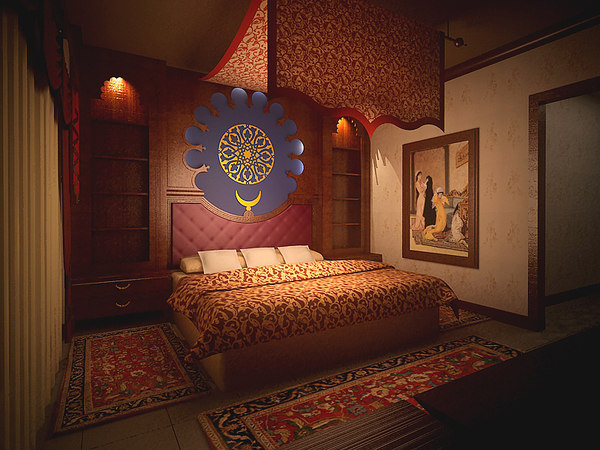 oriental turkish bedroom 3d max