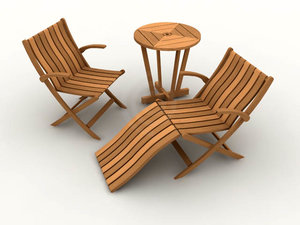 outdoor chair table furniture 3ds