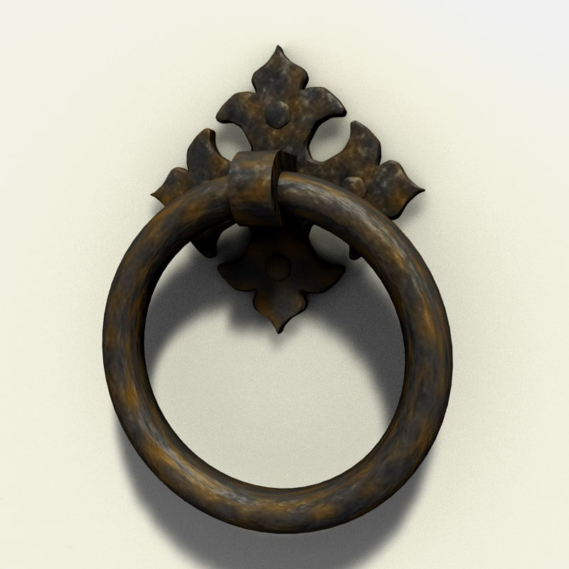 3d iron ring pull medieval