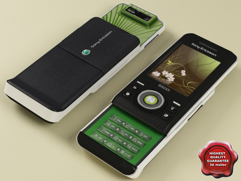 sonyericsson s500i modelled 3d model