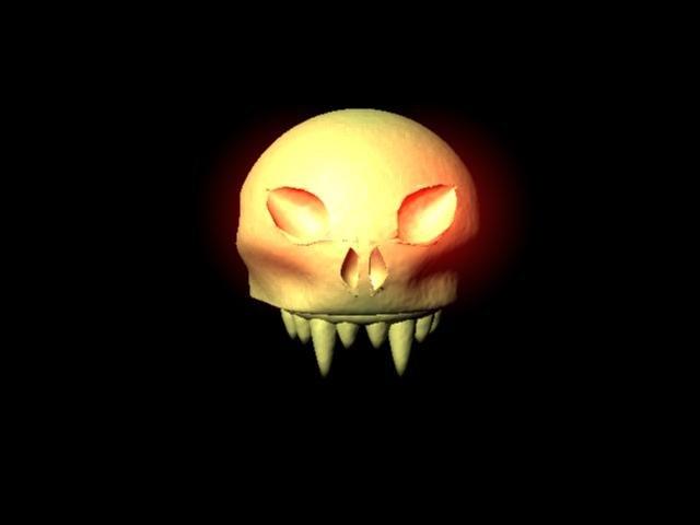 free fantasy skull 3d model