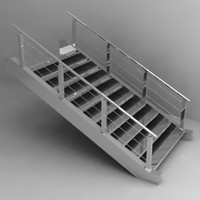 stairs 3d dxf