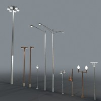 3d street lights model