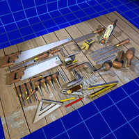 Wood Working Tool Set 01