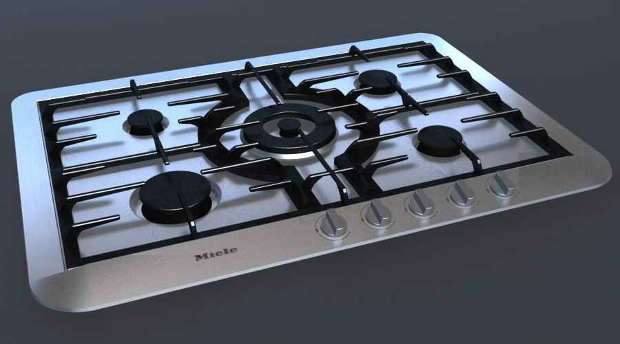 3ds max miele 5 gas hob