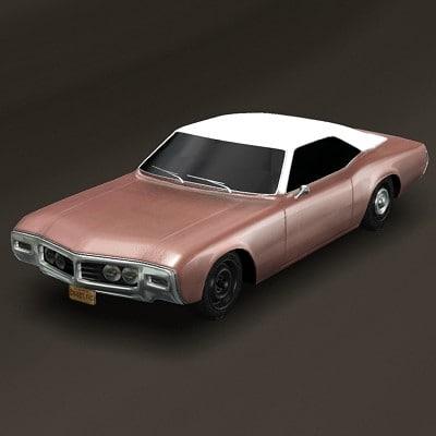 1969 buick riviera 3d model