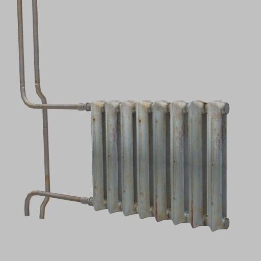hotwater old radiator 3ds