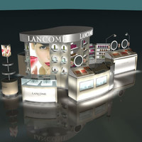 3d loreal lancome stand model