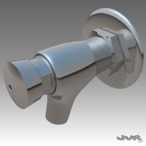 3d model tap closes faucets