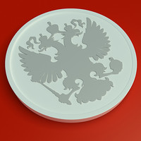 3ds russian eagle bas-relief