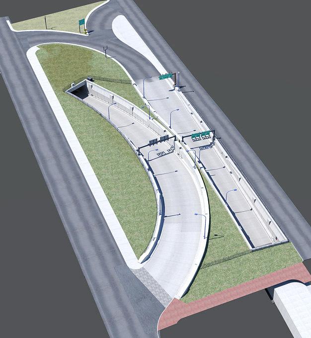 i-93 exit ramp boston 3d max