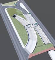i-93 exit ramp boston 3d max