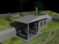 cellar garden house 3d model