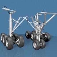 3d airline jet landing gear model