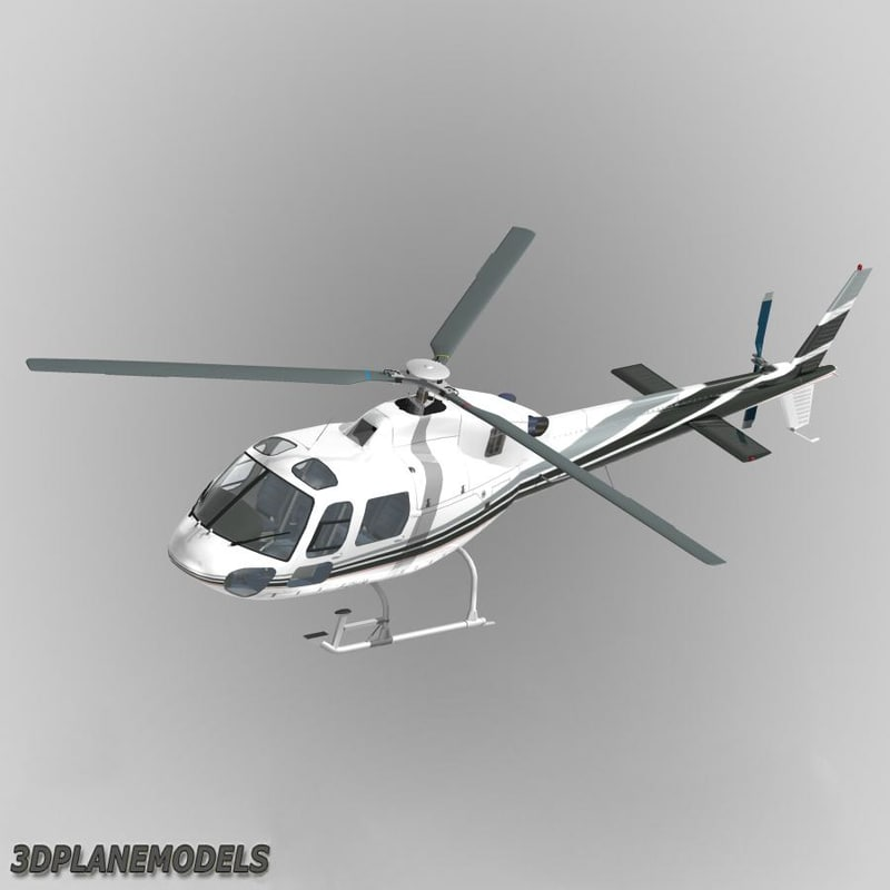 3d model eurocopter mont blanc helicopters