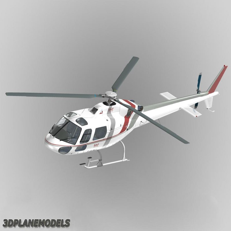 3d lwo eurocopter saf helicopters 355