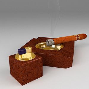3dsmax cigars lighter
