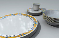 Corel Dinnerware - Plates Bowls and Cups