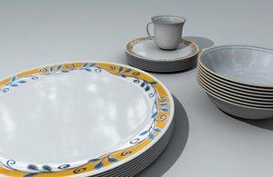 3d corel dinnerware