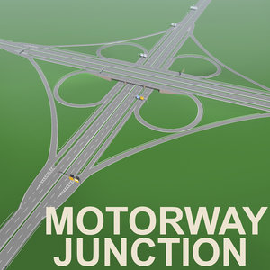 3d street signs highway bridges
