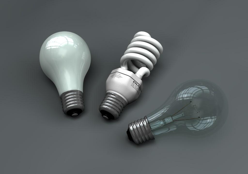 3 light bulb 3d lwo
