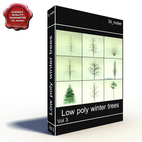 winter trees 3d lwo