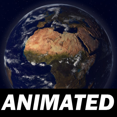 earth animation 3d model