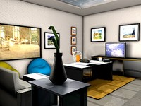 3d studio scene