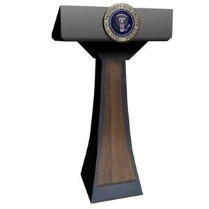 presidential podium 3d max