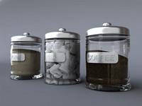 tea coffee sugar jars max