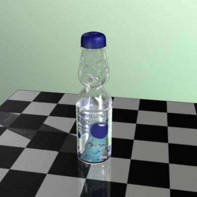 bottle ramune 3d model