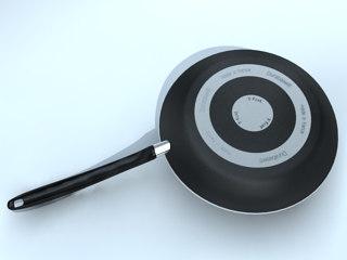 casseroles skillet sarten 3d max