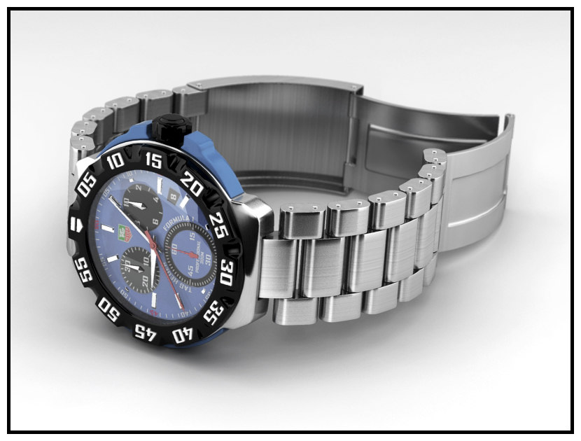 tag watch 3d model