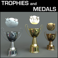 3dsmax place medals trophy