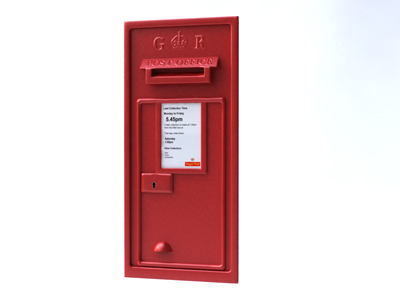 3d model royal mail wall mounted