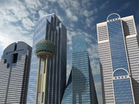 5 dallas skyscrapers 3d model