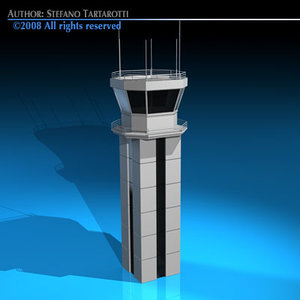 3d c4d airport control tower