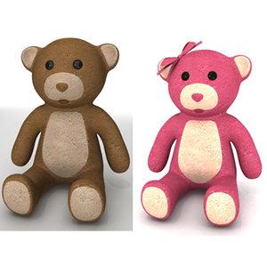 teddy bears 3d model