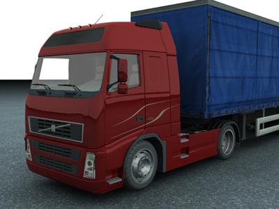 new truck trailer 3d max