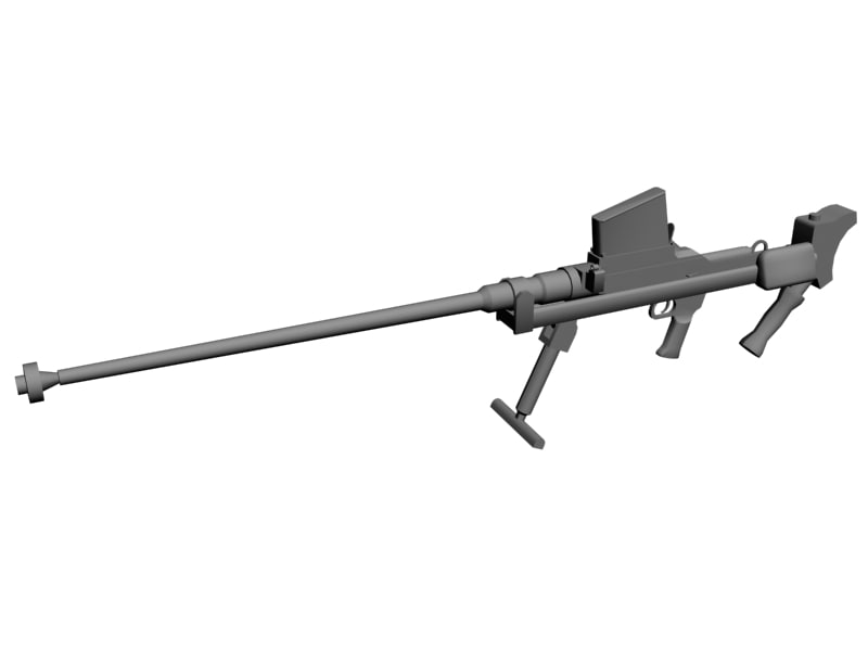 boys anti-tank rifle 3d model