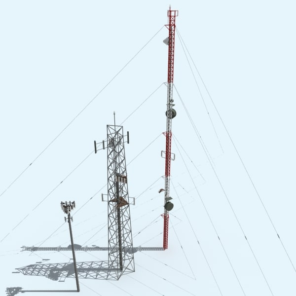 3d model cell towers
