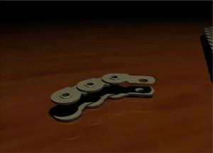 bmx halflink chain links 3ds free