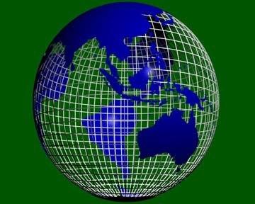 3d model rotating earth