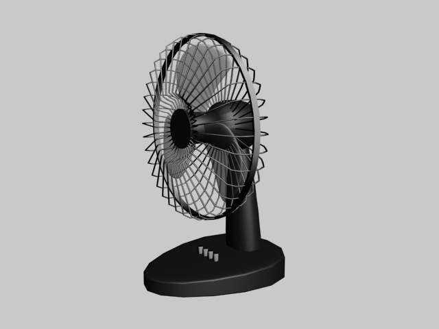table fan 3d model