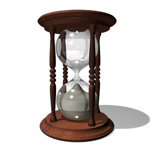 3d hourglass glass